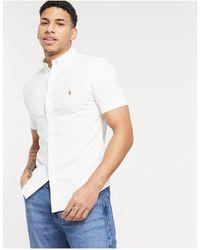 Polo Ralph Lauren – Klassisches, kurzärmliges Oxford-Hemd - Weiß