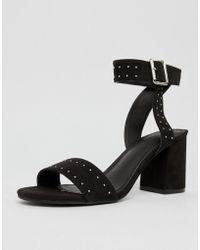 Pimkie - Studded Block Heeled Sandals - Lyst
