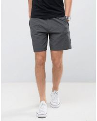 Abercrombie & Fitch Beach To Bar Short In Tonal Stripe Grey - Red