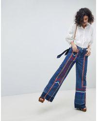 INTROPIA - Ribbon Tape 70s Jeans - Lyst
