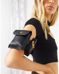 ASOS Double Pouch Arm Bag - Black