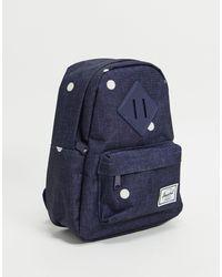 Herschel Supply Co. Синий Мини-рюкзак В Белый Горошек Herschel-голубой