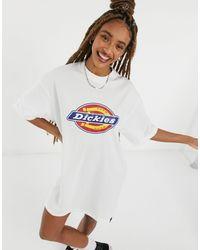 Dickies – Varnell Horseshoe – T-Shirt-Kleid - Weiß