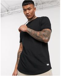 Bershka Join Life Long Fit T-shirt - Black