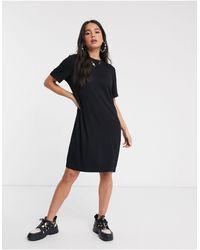 Monki Mini T-shirt Dress - Black