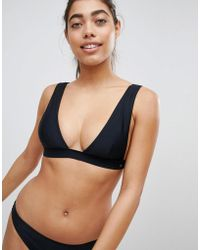 Pull&Bear - Deep V Triangle Bikini Top - Lyst
