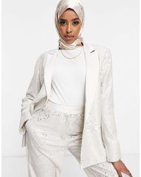ASOS Premium Sequin Tux Suit Blazer - Multicolour