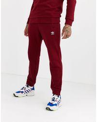adidas Originals - Бордовые Джоггеры С Вышитым Логотипом -красный - Lyst