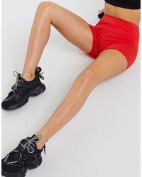 ASOS Leggings cortos rojos