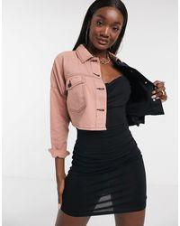 Missguided Veste en jean d'ensemble avec empiècement contrastant - Multicolore