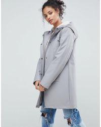 ASOS - Borg Lined Raincoat - Lyst