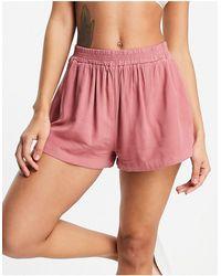 RVCA Sawyer - Pantaloncini rosa cipria con coulisse
