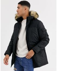 Jack & Jones Explore Parka Jacket - Black