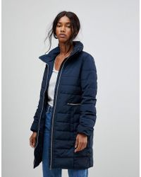 B.Young   Fitted Padded Coat   Lyst