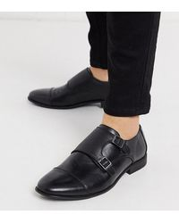ASOS Asos Wide Fit Monk Shoes - Black