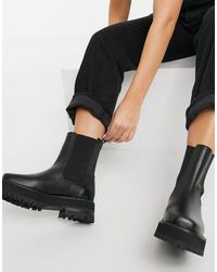 & Other Stories - Leather Chunky Square Toe Boots - Lyst