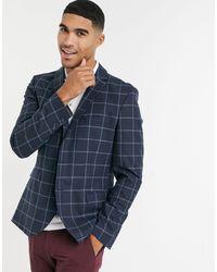 SELECTED - Giacca da abito con vestibilità slim a quadri grandi - Lyst