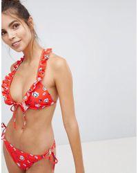 388c8eb60cae1 Vero Moda - Froral Bikini Bottom With Side Ties - Lyst
