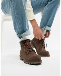 Levi's - Levi's Hodges Leather Boot In Dark Brown - Lyst