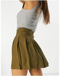 ASOS Mini Pleated Tennis Skirt - Green