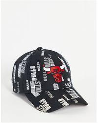 KTZ 9forty Chicago Bulls - Baseballpet Bedekt Met Print - Zwart