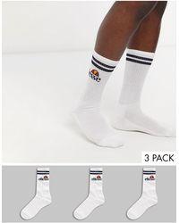 Ellesse Набор Из 3 Пар Мужских Белых Спортивных Носков -белый