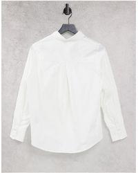 Y.A.S - Белая Классическая Поплиновая Рубашка -белый - Lyst