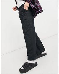 Weekday Abdi - Pantalon cargo large - Noir