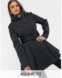 ASOS Черное Короткое Пальто - Черный