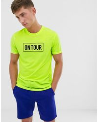 Brave Soul Slogan Neon T-shirt - Yellow