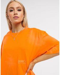 PUMA T-shirt - Orange - Gris