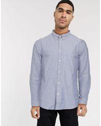 Esprit Голубая Оксфордская Рубашка -темно-синий
