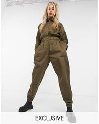 Collusion Utility Boilersuit - Green