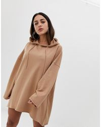 e47386ced7a Missguided Plus Size Camel Knitted Choker Neck Jumper Dress in ...