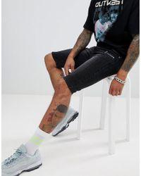 38933efd64 Sixth June Skinny Denim Shorts in White for Men - Lyst