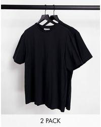 Another Influence - Набор Из 2 Oversized-футболок Черного Цвета Tall-черный Цвет - Lyst