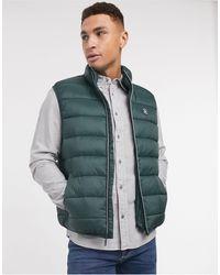 Original Penguin Lightweight Filled Puffer Vest - Green