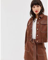 River Island Коричневая Куртка В Стиле Милитари -светло-коричневый