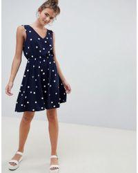 826775eb985a ONLY - Michelle Polka Dot Skater Dress - Lyst