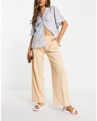 Pimkie Wide Leg Trousers - Natural