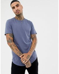 Only & Sons - Longline Crew Neck T-shirt - Lyst