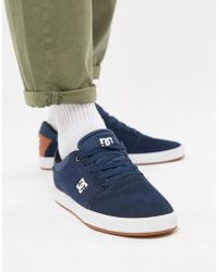 DC Shoes - Crisis Trainers In Navy - Lyst