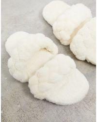 Public Desire Cozi Slippers - Natural