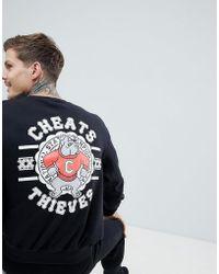 Cheats & Thieves - Bulldog Back Print Sweater - Lyst