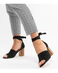 Park Lane - Wide Fit Tie Leg Block Heeled Sandals - Lyst