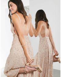 ASOS Midi-jurk Met Versiering - Roze