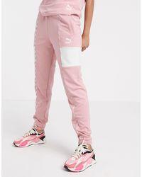 PUMA – XTG – Sweatpants mit Logo - Pink