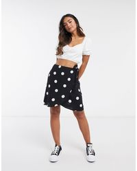 New Look Mini Wrap Skirt - Black