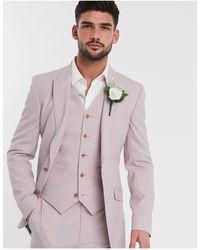 ASOS Розовый Приталенный Пиджак - Многоцветный