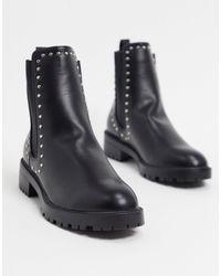 Pimkie Черные Ботинки Челси С Заклепками -черный
